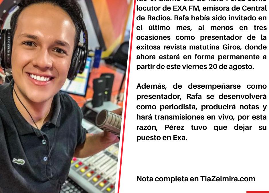 Te tengo un vieras de Ultima Hora: !Rafa Pérez deja EXA por Giros!